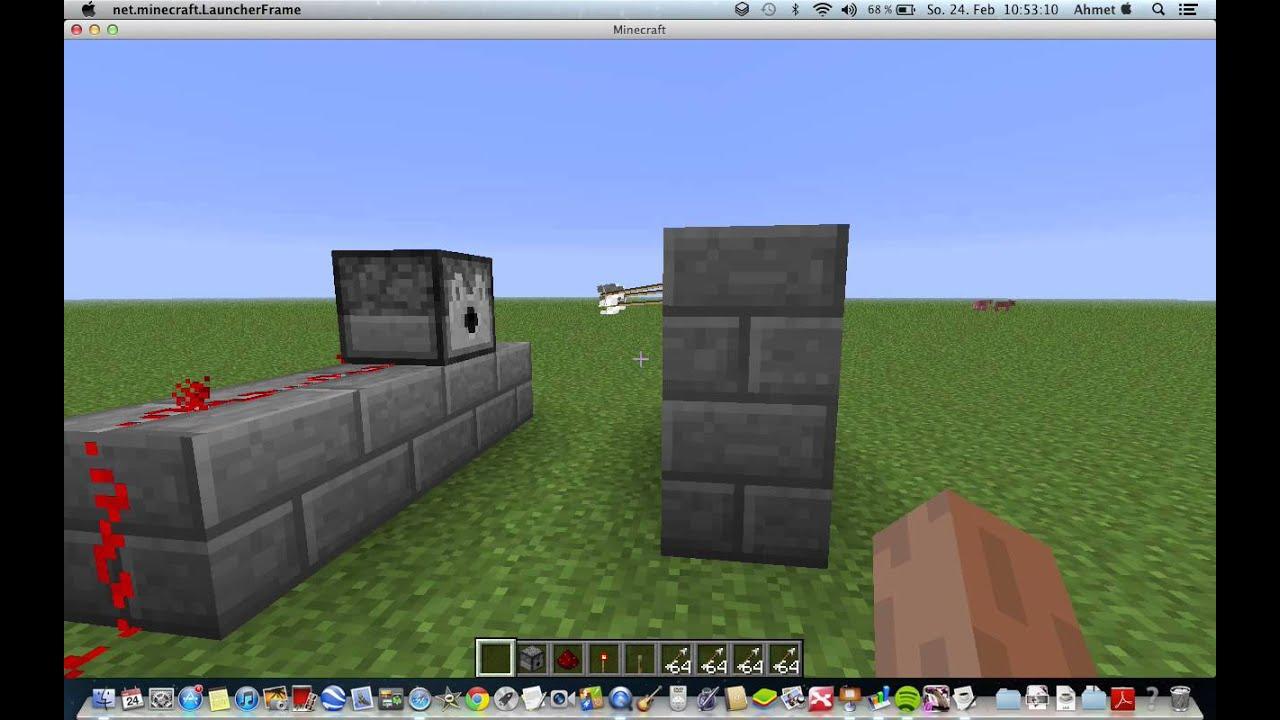 minecraft wie baut man sich ein maschinen gewehr youtube. Black Bedroom Furniture Sets. Home Design Ideas
