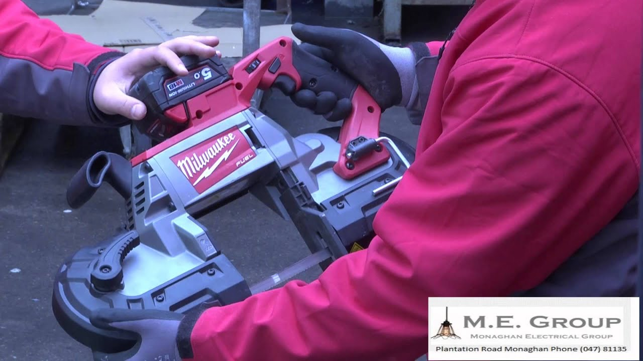 milwaukee lithium ion cordless hand held band saw