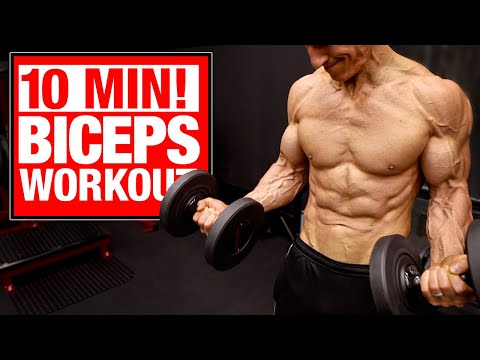 10 Min | Home Biceps Workout (SETS AND REPS INCLUDED!)