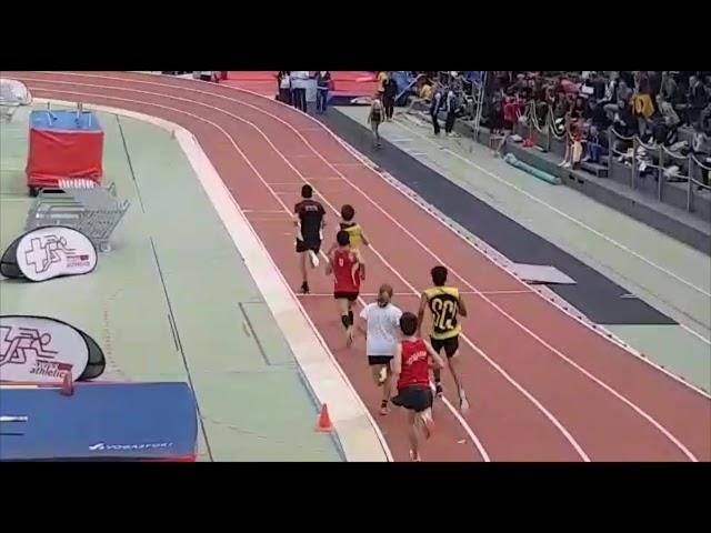 CS jeunesse en salle à Macolin - 23-24 février 2019. Louis Low-Beer en finale du 1000m en 2:38.86