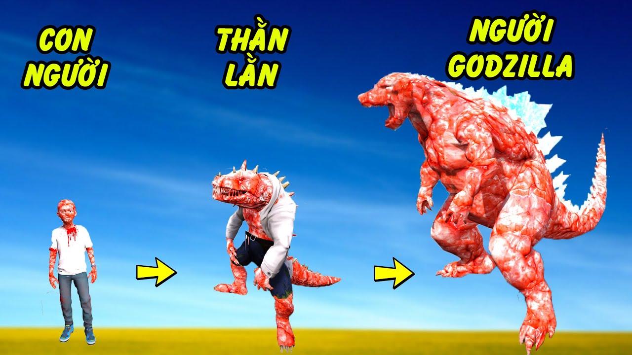 GTA 5 - Câu chuyện về Cậu bé thăn lằn phóng xạ Godzilla | GHTG