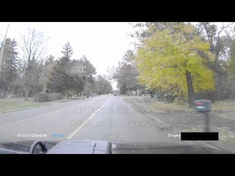 HP F210 1080p Full HD GPS Dash Cam DashBoard