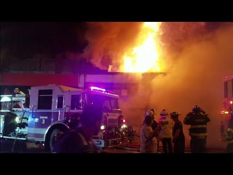 IMAGES: Gas-Fed Restaurant Fire Destroys String Of Passaic Shops
