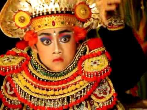 The warrior Balinese Dance
