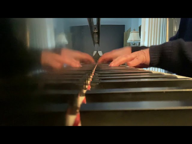 Chopin's Butterfly Etude as seen from the flying left hand bass angle.