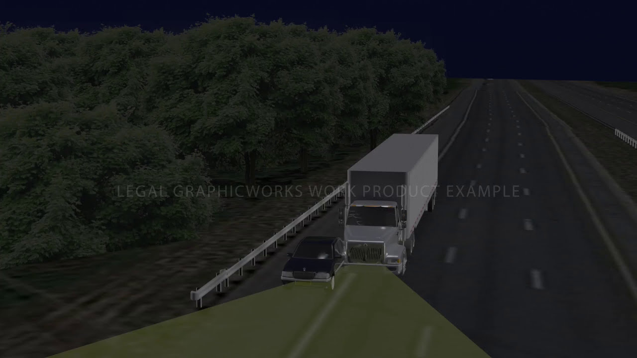Truck Accident Recreation 3D Animation for Mediation - YouTube