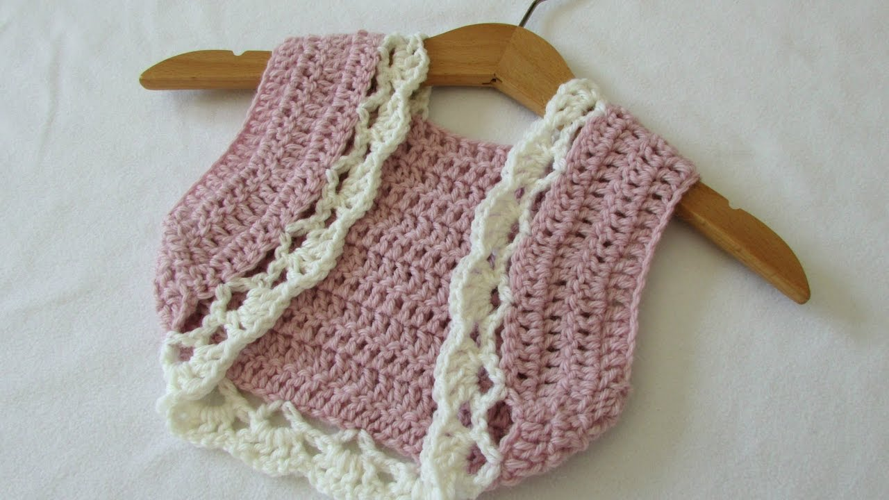 How to crochet a children\'s pretty summer bolero / shrug - YouTube