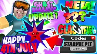 4TH JULY FREE PET CODE ! NEW CLASSIFIED ! LIMITED SQUID & BOARD ! 👻 Ghost Simulator Update 7 Roblox