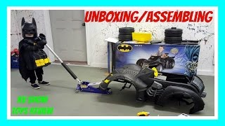BATMAN BATMOBILE Power Wheels Car 6 Volt Powered Ride On Car For Kids  Unboxing And Assembling