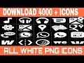 How to download all white png icons like me and Mgs tech || By Mukesh Dhanker
