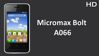 Micromax Bolt A066 listed online with 1.3 GHz Dual Core Processor, 512MB RAM, Android 4.4