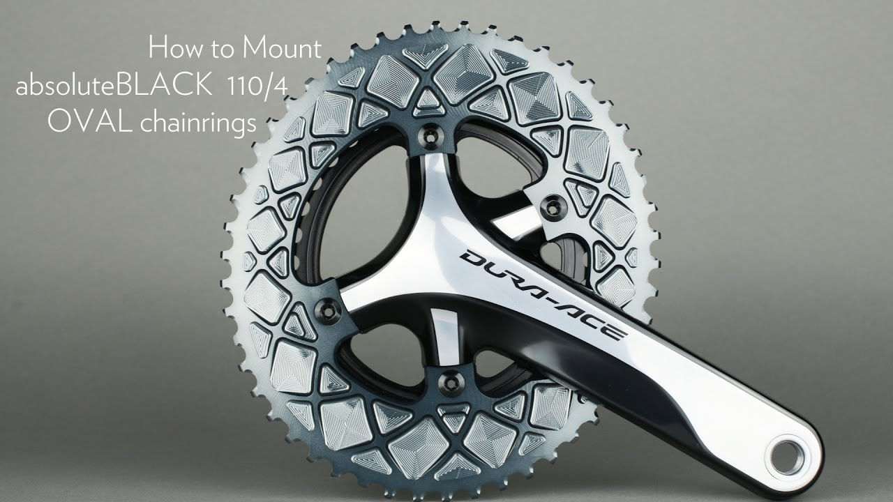 How To Mount Large And Small Oval Chainring Ultegra 6800 Dura Crank Driveline 46t Ace 9000