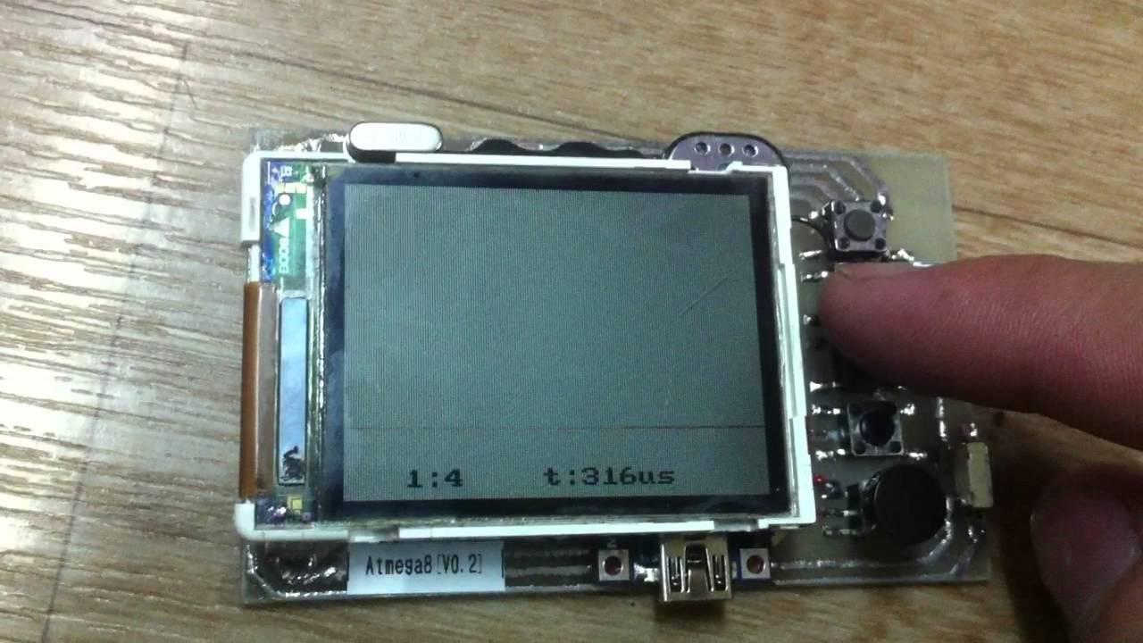 схема осциллографа на контроллере с жк экраном