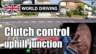 Clutch Control At Junctions Uphill - Learning To Drive A Manual / Stick Shift Car