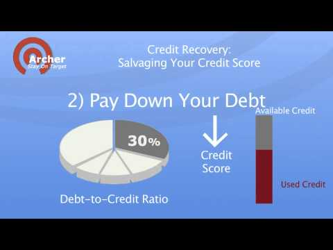 Credit Recovery -- Salvaging Your Credit Score