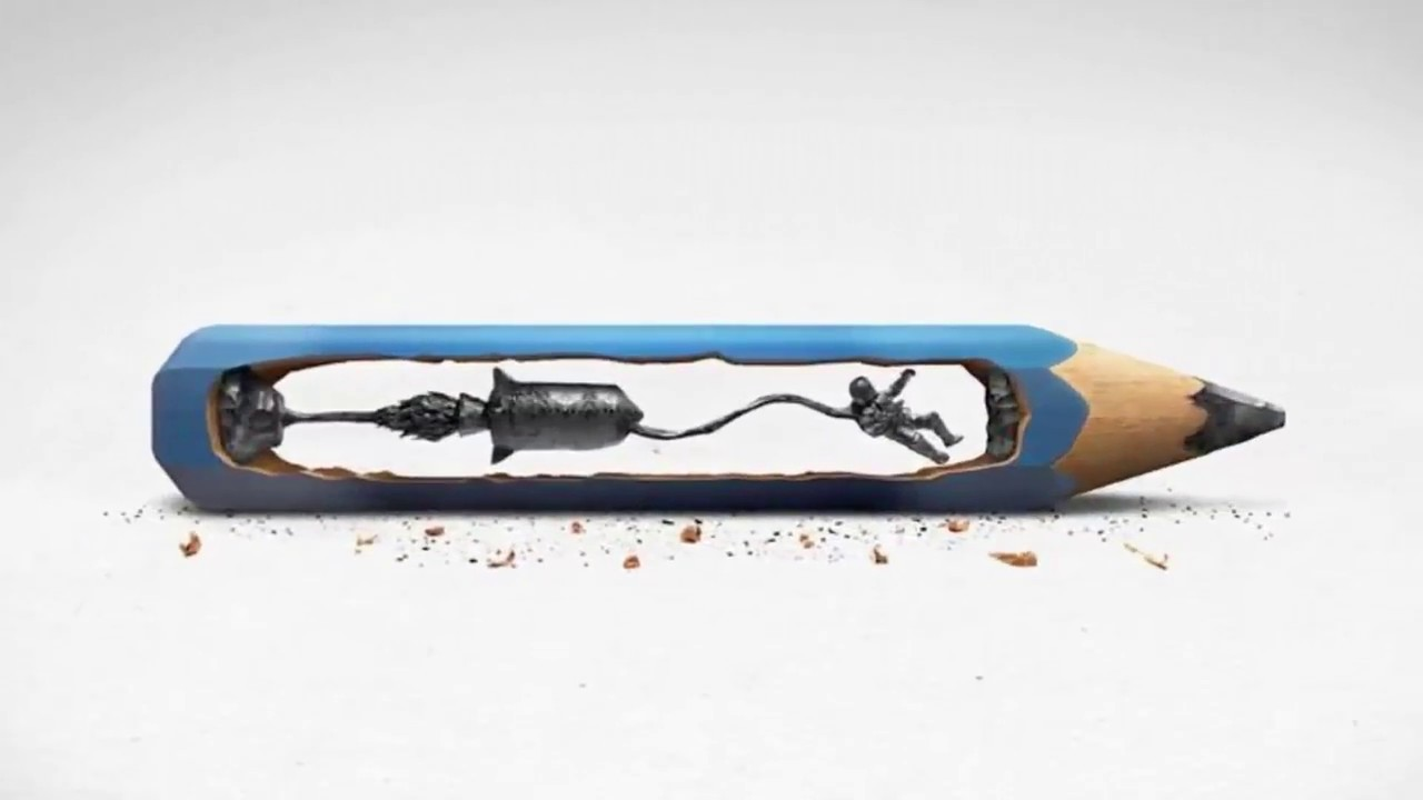 Incredible art on pencil tip carving part