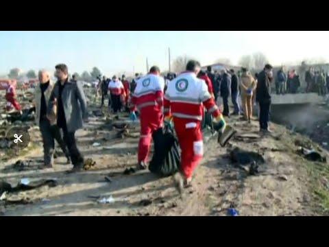 Кадры с места падения украинского самолёта в Иране / Video from the crash site of a Ukrainian plane
