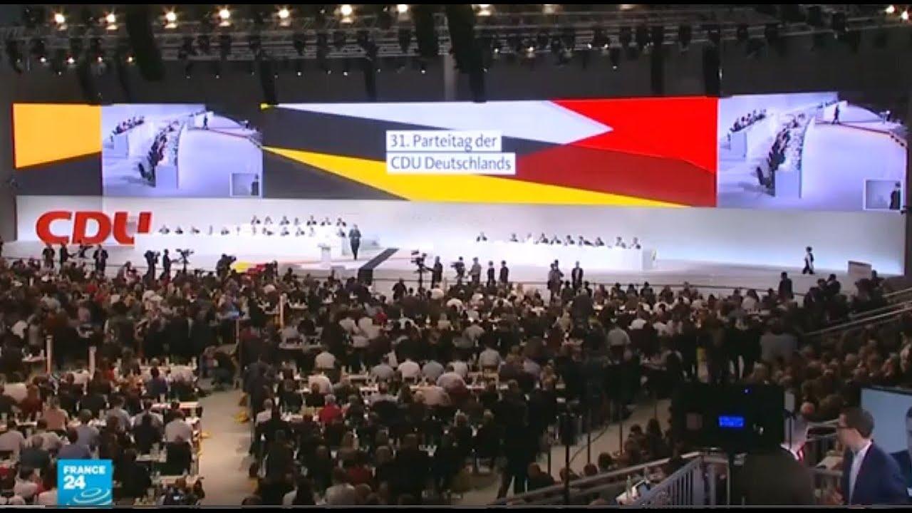 انتخاب زعيم  جديد  لحزب الاتحاد  الديمقراطي المسيحي في  ألمانيا عن طريق مؤتمر افتراضي  - 16:00-2021 / 1 / 15