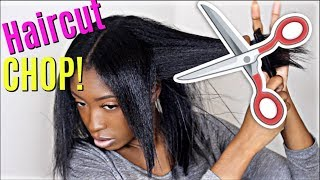 CUTTING MY HAIR! Damaged to Healthy Hair Journey 2018