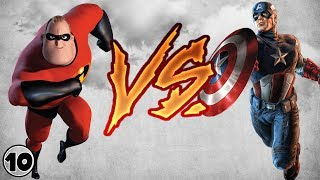 Mr. Incredible vs Captain America