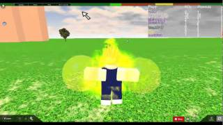 ME playing Dragonball z sparkling meteor on Roblox