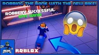 ROBBING THE BANK WITH THE NEW POLICE BIKE! *NOT CLICKBAIT* (Roblox Jailbreak New Update)