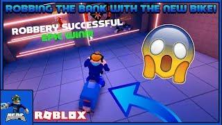 RAUBEN SIE DIE BANK MIT DEM NEUEN POLIZEIFAHRRAD! * NICHT CLICKBAIT* (Roblox Jailbreak Neues Update)
