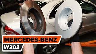 Как се сменят Комплект спирачни дискове на MERCEDES-BENZ C-CLASS (W203) - онлайн безплатно видео