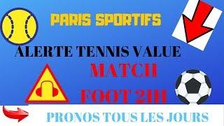 PARIS SPORTIFS : PRONOS TENNIS 16H + FOOT TOP CONFIANCE FIN DE VIDEO (TOURNOI DE BALE)