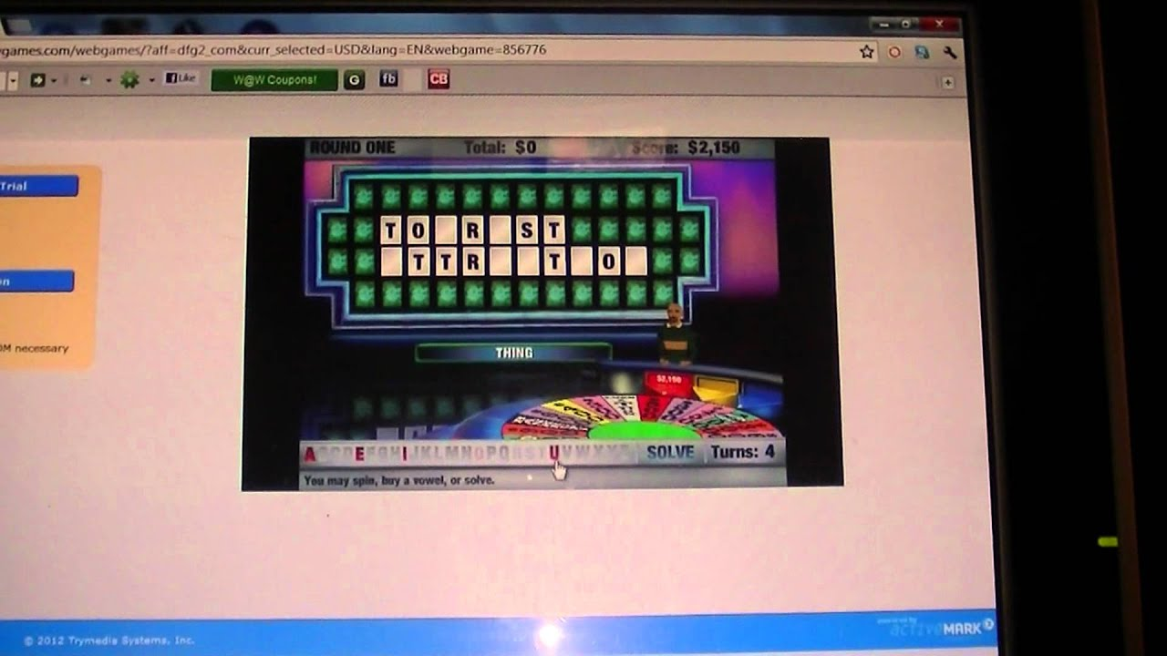 wheel of fortune online
