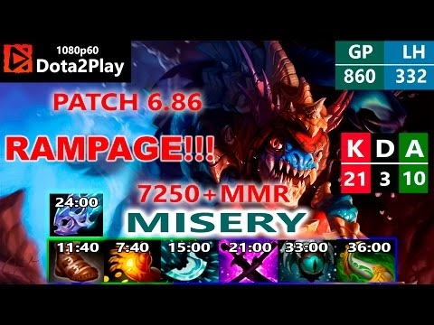 Dota 2 - Pro Slark Patch 6.86 - MISERY 7250+ MMR