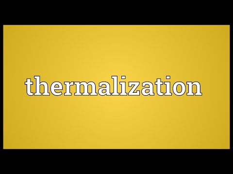 Thermalization Meaning