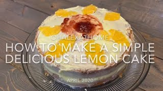 Making the easiest strawberries lemon from a cake mix, delicious and soft