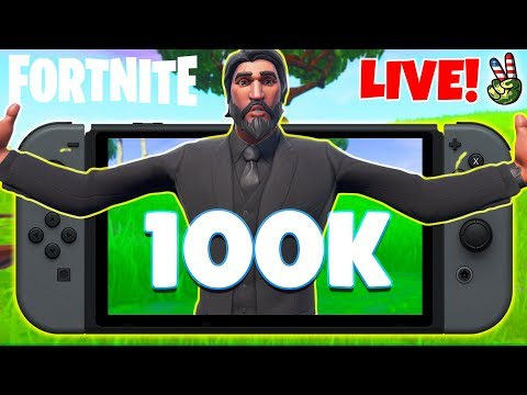 Pro Nintendo Switch Player! // CALLING ALL AMIGOS SO CLOSE 100K!!! // (Fortnite Battle Royale LIVE) thumbnail