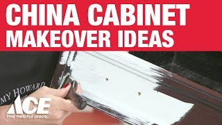 China Cabinet Makeover Ideas from Amy Howard at Home and Ace Hardware