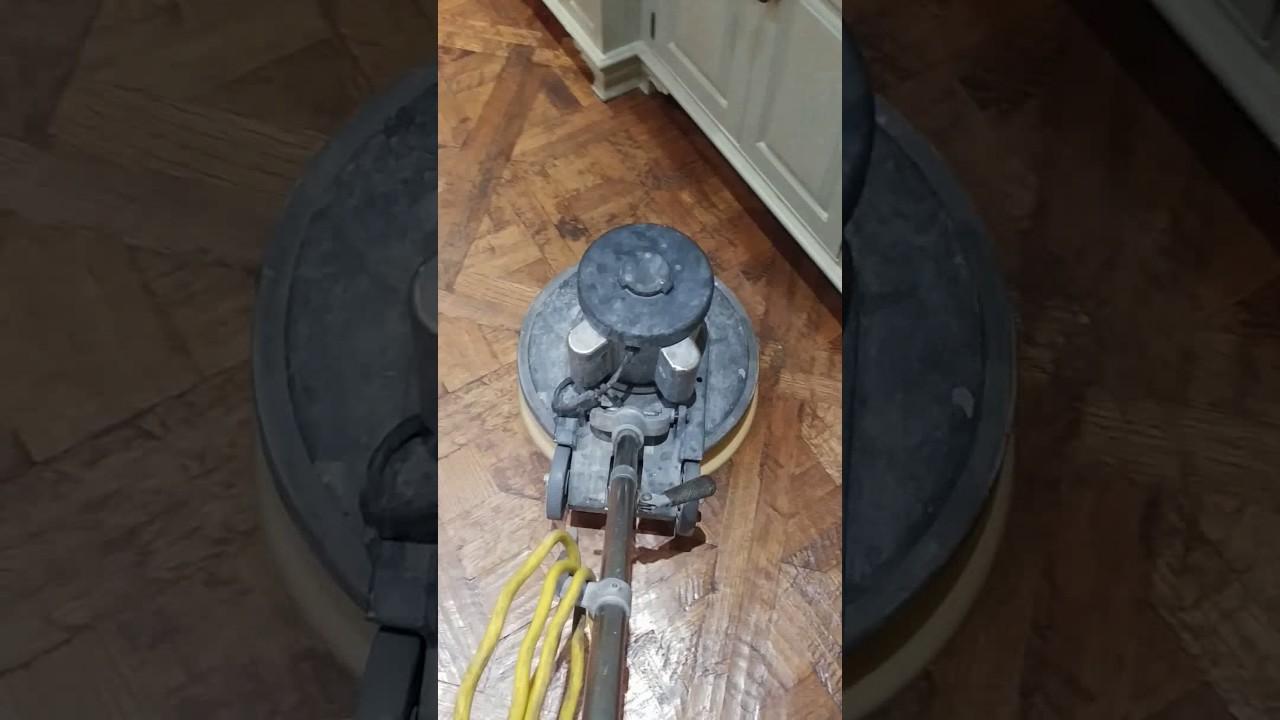 Polishing A Wood Floor With Paste Wax