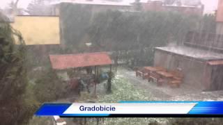 Burza i gradobicie w Polsce/w Rybniku
