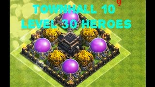 Clash of Clans: 100% MAXED TH 9!!! ll Getting TH 10 and LVL 30 Heroes! Episode #10