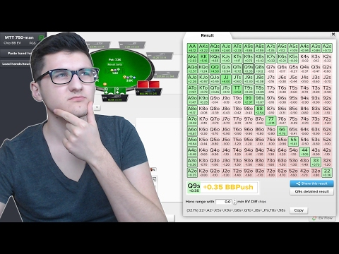 LOOKING AT PUSH/FOLD MATH! | Poker ICM Strategy!