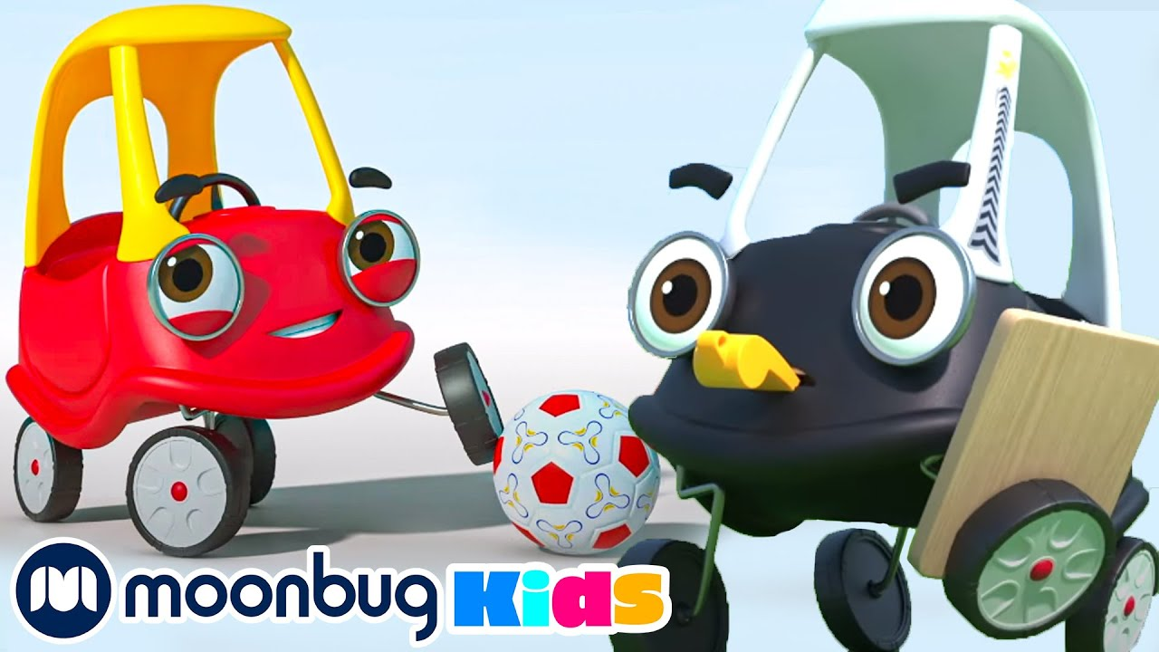 Cozy & Friends Play Soccer - Football | Cozy Coupe - Cartoons for Kids | Baby Song | Moonbug Kids