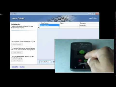 Auto Dialer Software - Video Tutorial