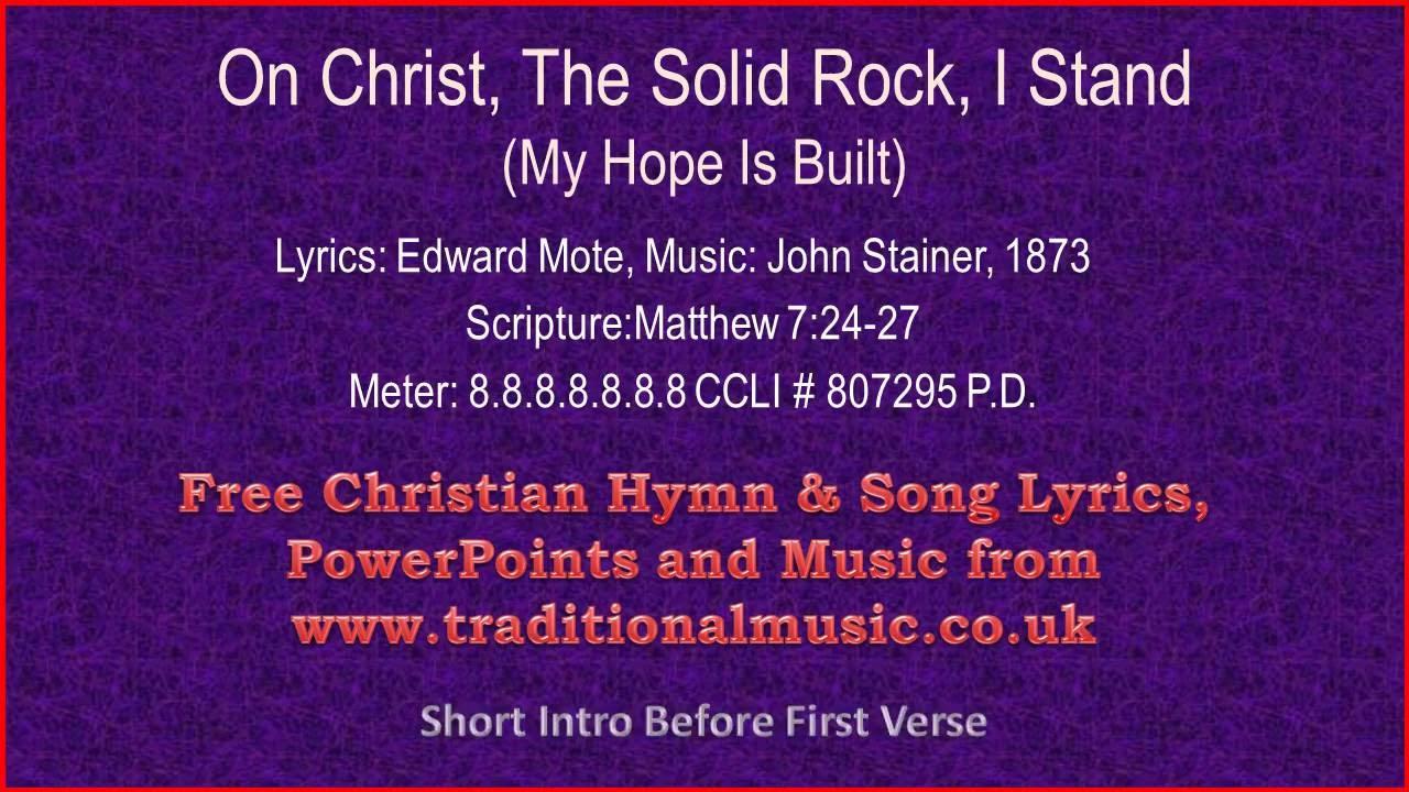 Gospel song solid rock lyrics