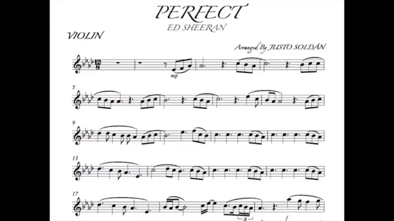 perfect ed sheeran violin sheet music pdf