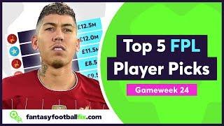 FPL Double Gameweek 24 | Top 5 Fix Player Picks | GW24 | Fantasy Premier League 2019/20