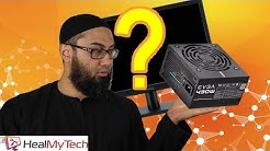 Computer Turns On But No Display On Monitor | Led Light On Fan Spinning | Power Supply Unit Pc?