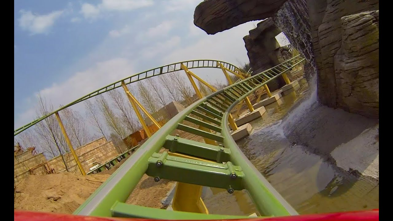 Juvelen Roller Coaster Pov Djurs Sommerland Denmark