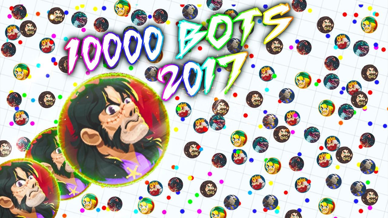 AGAR IO NEW HACK 10000 BOTS/ 2017/ TUTORIAL WORKING EXTENSION / NEW SKINS  2/12/2017