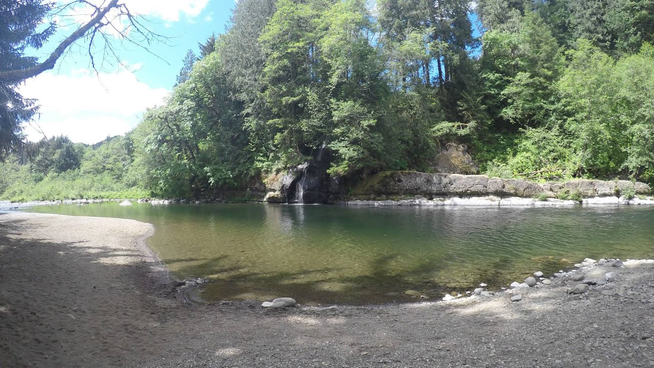 North Park Lincoln >> waterfall at Moonshine Park on the Siletz River, 4k - YouTube