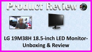 LG 19M38H 18.5 inch LED Monitor-Unboxing & Review