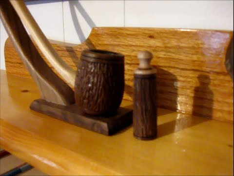 #24 Woodturning a Tobacco Pipe Bowl Cleaner